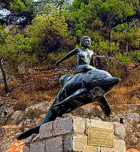 Hydra_Island_Greece_Boy_on_dolphin