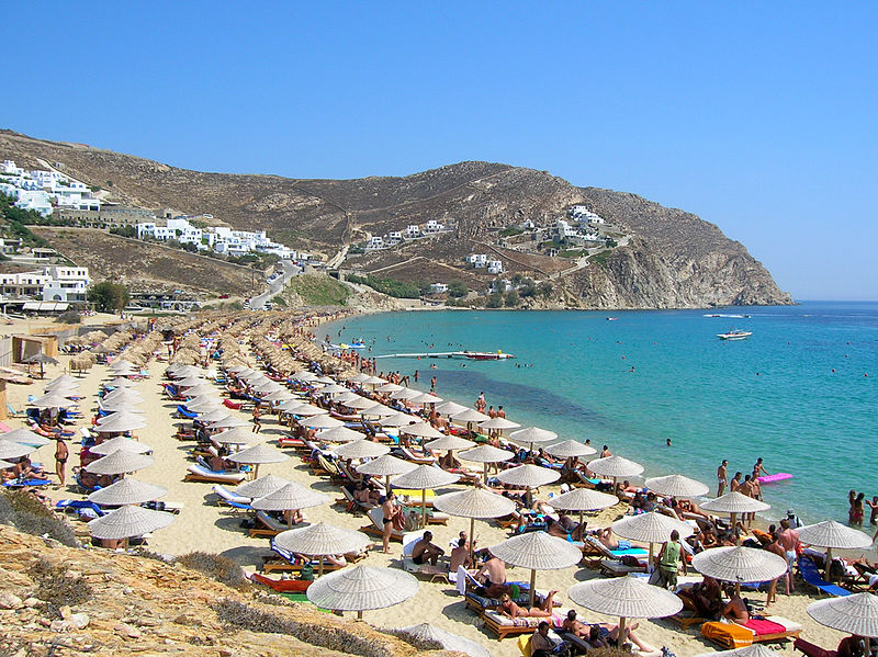 mykonos_greece_elia_beach Mykonos Elegant Honeymoon Vacation