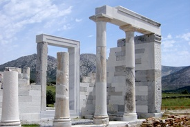 Naxos_Island_Cyclades_Greece_Demetra_Temple Greek island honeymoon Paros