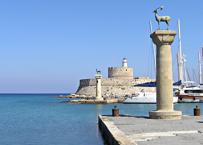 Rhodes_Greece_Harbour_Entrance Cruise Greek islands Mykonos