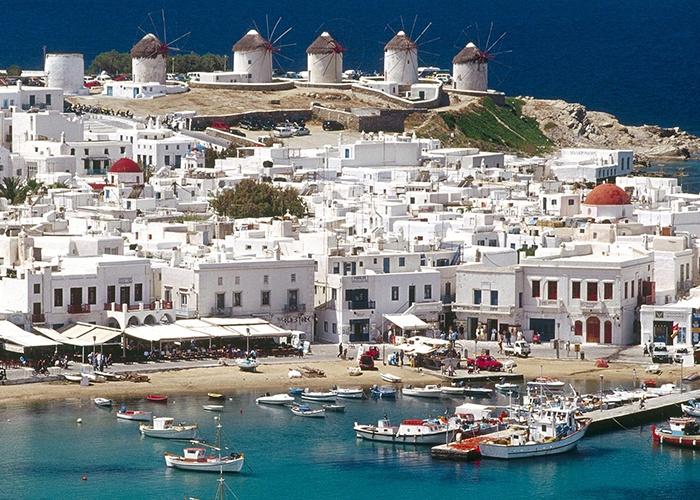 Mykonos_Myconos_Island_Greece old port Classical Greece Greek Islands