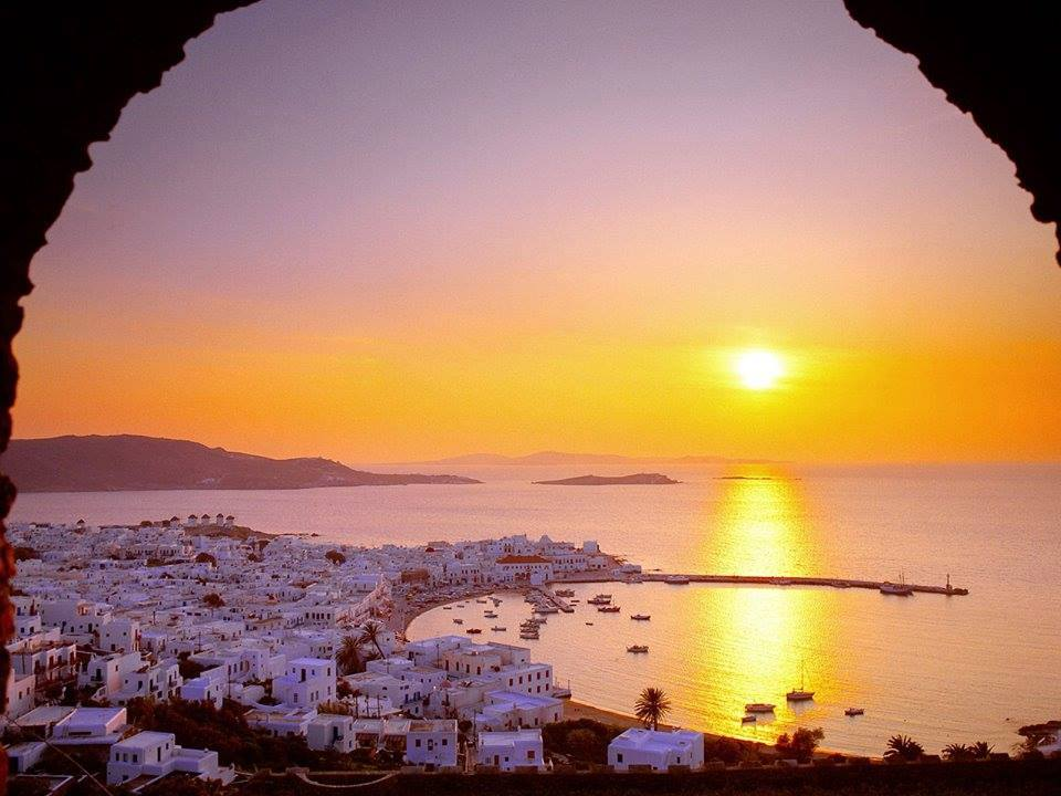 Mykonos_Myconos_Island_Greece_Sunrise Mykonos Santorini Classical Greece