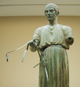 Delphi_Greece_The_Museum_The_Charioteer Ancient Delphi Archaeological Site
