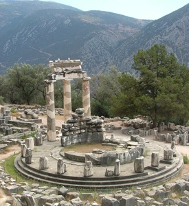 Delphi_Greece_Tholos_Athina_Pronea Mykonos Santorini Classical Greece
