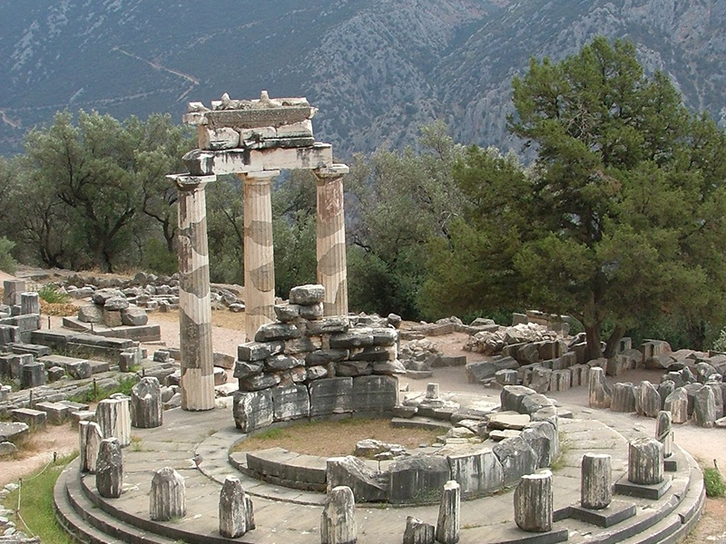 Delphi_Greece_Tholos_Athina_Pronea Ancient Delphi Archaeological Site