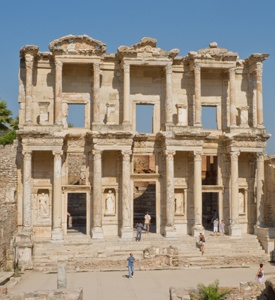 Ephesus_Turkey_Celsus_Library 3 countries 3 continents