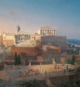 Athens Greece Acropolis reconstruction Athens 3 continents