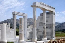 Isla Naxos Cícladas Grecia Templo Demeter  Paros Naxos Santorini