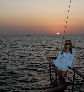Santorini_Island_Greece_Volcano_Cruise Greece Honeymoon Package Mykonos