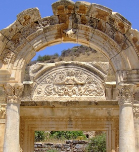 Ephesus_Turkey_Temple_of_Hadrian Cappadocia_Turkey_House