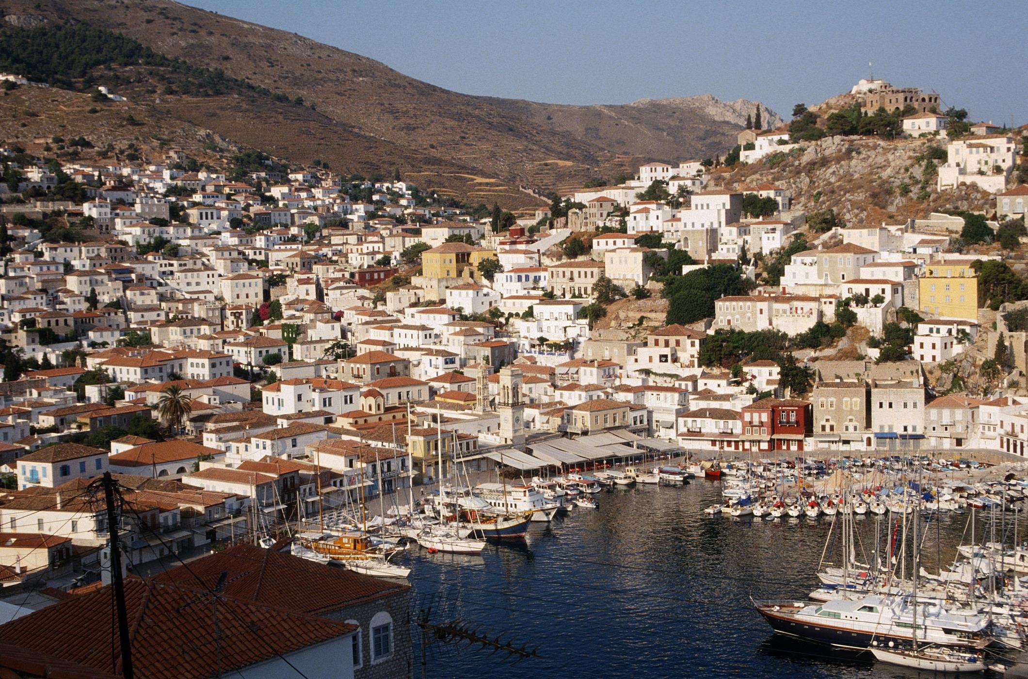Isla Hydra Grecia Atenas pequeño crucero Delfos