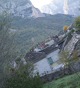 Papigo Epirus Greece Panoramic View